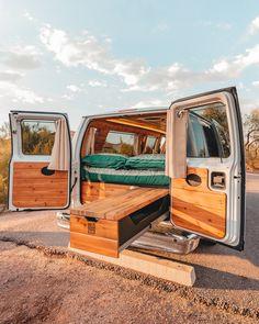 Small Camper Vans, Small Campers, Van Conversion Interior, Camper Van Conversion Diy, Cargo Van Conversion, Rent Camper, Wolkswagen Van, Yellow Vans, Pink Vans