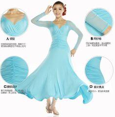 Ballroom-Standard-Smooth-Dancewear-Latin-Tango-Salsa-Dance-Dress-Dp164