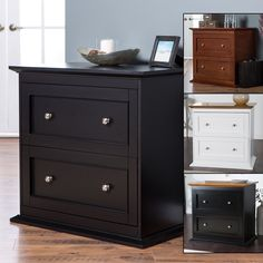 This one is deep enough to double as a printer stand. Belham Living Hampton Two Drawer Lateral Wood File Cabinet
