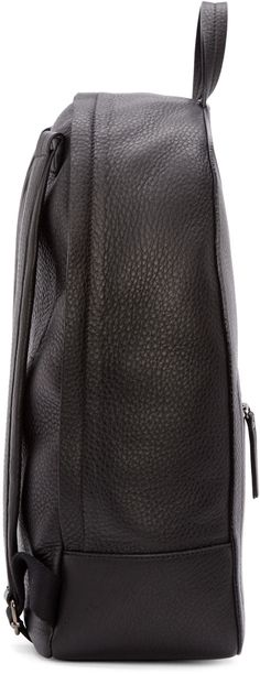 Maison Margiela Black Grained Leather Ghost Backpack