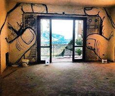 Streetart by Banksy 3d Street Art, Street Art Graffiti, Banksy Graffiti, Bansky, Graffiti Quotes, Street Art Utopia, Urbane Kunst, Landscape Pictures, Chalk Art