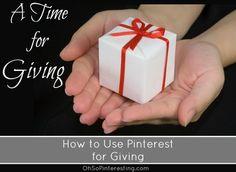 Pinterest Ideas for Giving   Oh So Pinteresting