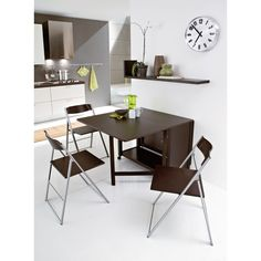 Folding Kitchen Table With Chair Storage