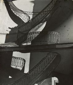 Bill Brandt. Bombed Regency Staircase, Upper Brook Street, Mayfair./i c. 1942. Gelatin silver print. Acquired through the generosity of Clarissa A. Bronfman