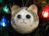 Cute hand crafted cat ornaments for your Christmas tree!