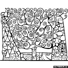 the tree of life by gustav klimt and other artwork coloring pages