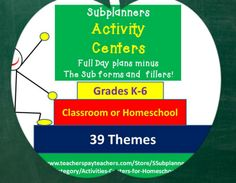 Use these activity centers for K-6 to support units of study  in literacy, social studies, and science.  Check the product previews to know exactly what included.  And enjoy!