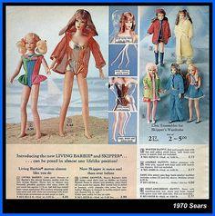 1970 Living Barbie and Skipper