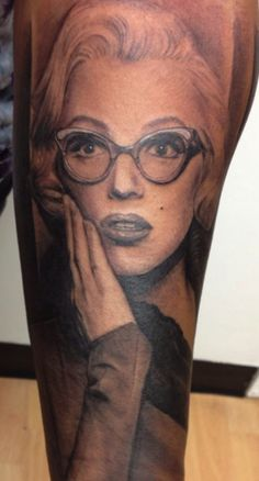 Marilyn Monroe portrait by Chris Carter at Low Tide Tattoos in Jessup, MD!