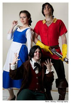 Belle, Gaston, LaFou (from Beauty and the Beast) | Katsucon 2013