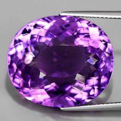 Intensiv Violetter 21 x 18 mm VVS Uruguay Amethyst Amethyst Gemstone, Natural Gemstones, 18th, Uruguay