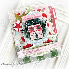 Artisant Beautiful Christmas Cards, Hello Dear, Time Of The Year, Christmas Inspiration, Wonderful Time, Merry, Gift Wrapping, Stamp, Scrapbook