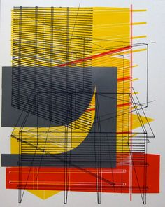 These screenprints by Ben Kafton are really fantastic explorations of drafting.