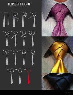 And if you really want to up the ante, try a super-fancy Eldredge tie knot. | 18 Helpful Diagrams To Solve All Your Clothing Woes