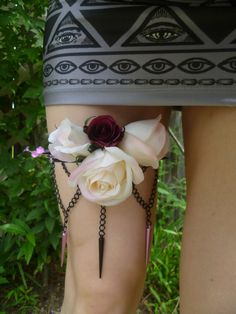 Thorn in my Thigh Spiked Roses by INVASIONACCESSORIES on Etsy, $50.00
