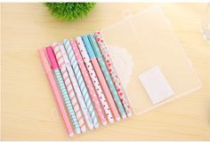 10 Colors Kawaii Useful Gel Pen Cute Cartoon Colorful Korean Stationery School Office Supplies 10pcs/box New Arrival