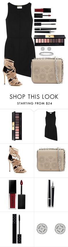"""""""Untitled #1620"""" by fabianarveloc ❤ liked on Polyvore featuring Yves Saint Laurent, Giuseppe Zanotti, Tory Burch, Smashbox, Chanel, Gucci and Blue Nile"""
