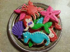 Mermaid cookies, Under the sea cookies, Ariel, little Mermaid