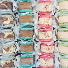 Yolkin, macaron ice cream sandwiches