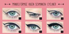 Augen schminken Tipps - mandelförmige Augen
