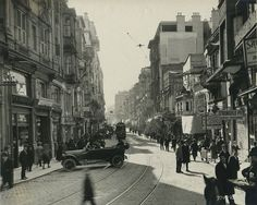 Postcard views of Beyoglu / Pera. Many Russians escaping the Bolsheviks found themselves in the Pera district of Istanbul, Turkey
