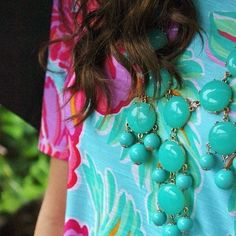Lilly and necklace
