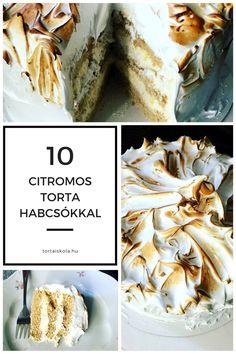 Nagyon finom, igazi nyári torta. HV: készítsünk piskótát, én ezt a receptet használtam. Készítsük el a citrom krémet, receptet itt találsz. A torta tetejére készítsük el a habcsókot. HV: 3 tojásfeh…