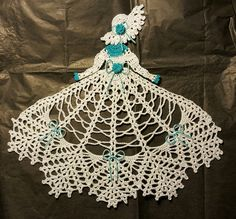 Note: Each doily is individually crocheted as one is sold, so slight differences may occur between each doily. This crocheted Crinoline Lady Doily is handmade using size 10 cotton crochet thread. It has been lightly starched to better hold its shape. | eBay!