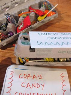 trying to keep smiling: quick trick, candy countdown - teach mama
