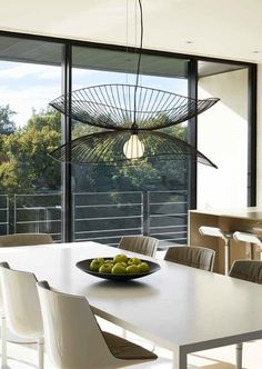 Metal pendant lamp LIBELLULE By Forestier design Élise Fouin