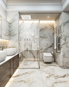 Luxury bathroom design ideas for your small house 00063 Royal Bathroom, Small Bathroom, Bathroom Marble, Minimal Bathroom, Bathroom Mirrors, Bathroom Cabinets, Bathroom Lighting, Zen Bathroom, Bathroom Showers