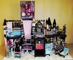 Monster High Lot Custom OOAK Doll House Classy Castle Furniture Food Accessories - By Ebay Seller, BargainFancy