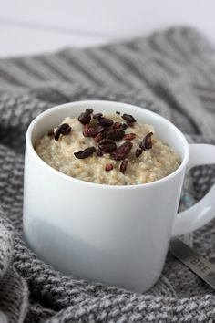 Barely Buzzed Oatmeal A super food boosted oatmeal without the coffee crash.  Gluten free and vegan friendly.