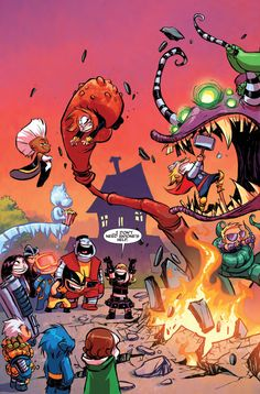Skottie Young: Giant Size Little Marvel AVX Preview #1 cover