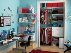 Designing Cute Pink Closet in the Teen Girls Bedrooms Pictures