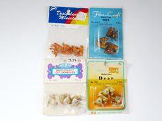 Mini Plastic Reindeer 3/4 inch, Plastic Reindeer, Plastic Deer Figurines, Vintage Reindeer, Holiday Decorations,Diorama Putz House Supply by SwirlingOrange11 on Etsy https://www.etsy.com/listing/487940539/mini-plastic-reindeer-34-inch-plastic