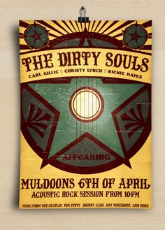 The Dirty Souls Band Poster