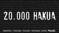 20.000 hakua tehty it-yritykset listaavalla markkinapaikalla! #Ohjelmistot #Kehittäjät #toteuttajat #Konsultit #Laitteet #Kouluttajat