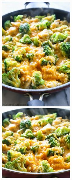 One-Pan Cheesy Chicken, Broccoli, and Rice