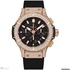 Hublot Big Bang Chronograph 18k Rose Gold Diamonds Men's Watch Model No. 301.PX.1180.RX.1704
