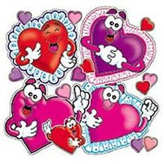 Accent Punch-Outs Valentines/Hearts $3.56