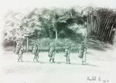 EE pencil on paper.Size: x Landscape Sketch, Paper Size, Thailand, Pencil, Outdoor, Outdoors, Outdoor Living, Garden