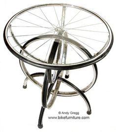 Bike Furniture Design - S-2 Barstool  For when I open my bike store/coffee shop!