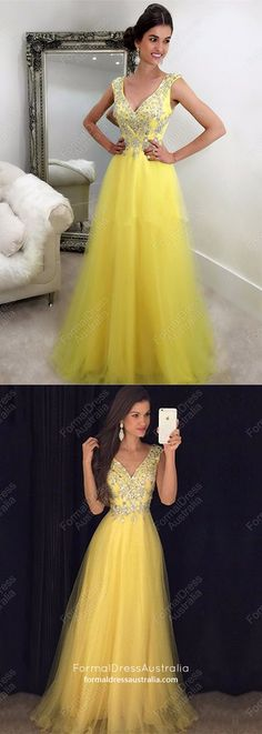 Yellow Formal Dresses Long Evening Dresses for Teenagers, A Line Military Ball Dresses Tulle - - Senior Prom Dresses, Best Prom Dresses, Prom Dresses For Teens, Elegant Prom Dresses, Plus Size Prom Dresses, Prom Dresses With Sleeves, Cheap Prom Dresses, Evening Dresses, Formal Dresses