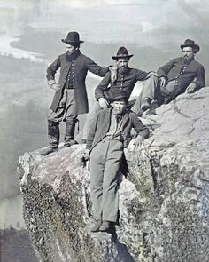 8 by 10 Civil War Photo 4 Union Soldiers Atop Lookout Mountain Tennessee - Visit to grab an amazing super hero shirt now on sale! History Photos, Us History, American History, American War, American Soldiers, Lookout Mountain Tennessee, Carolina Do Sul, America Civil War, Civil War Photos
