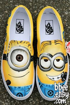Blog - Despicable Me Minion Shoes Cartoon Custom Pattern