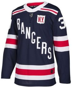 adidas Men s Henrik Lundqvist New York Rangers 2018 Winter Classic  Authentic Player Jersey - Blue 52 e44a30d60