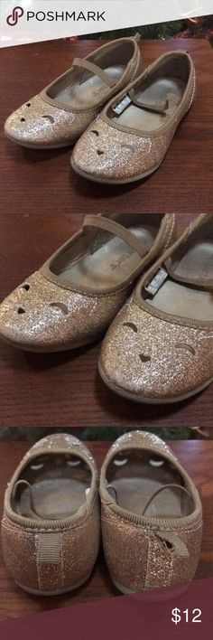 Carters Kitty Cat Ballet Flats worn once, glitter ballet flats- feel free to bundle and offer with other shoes in closet. Carter's Shoes Dress Shoes
