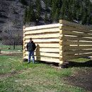Step 0: How to build a log cabin with dovetail notches