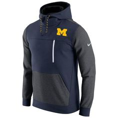 ecfdbda00 Men s Nike Michigan Wolverines Colorblock Fleece Hoodie